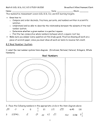 Real Numbers Venn Diagram Worksheet 8 1b Ordering Rational Numbers