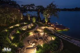 home lighting techniques. This Lake Home Located In Beaver Lake, Nebraska Utilizes Several Different Lighting Techniques To Illuminate The Outdoor Fire Pit Area, Dock, And Seawall. F