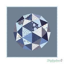 True Blue Globe Quilt Pattern by Zen Chic for Moda - Modern Fabric ... & True Blue - Globe Quilt Pattern - Zen Chic - Moda Adamdwight.com