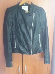 zara faux leather biker jacket review