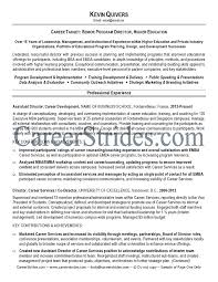 Higher Education Resume Samples