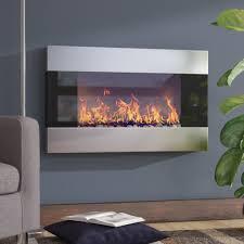 electric fireplaces inspirational long electric wall fireplace wayfair