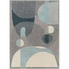 mystic orion mid century modern geometric blue