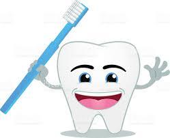 Dent Souriant Heureux Dessin Anim Tenant Une Brosse Dents