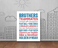 on brothers wall art quotes with brothers wall art boy room decor brother quotes big brother