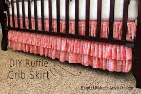 diy ruffle crib skirt 9