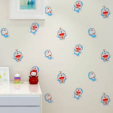 kid room wallpaper cartoon wall paper rolls doraemon for boy s bedroom non woven fabric wall sticker blue white wall mural