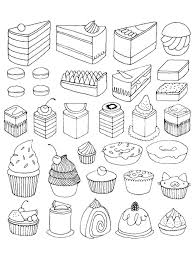 Small Picture Dessert Coloring Pages creativemoveme
