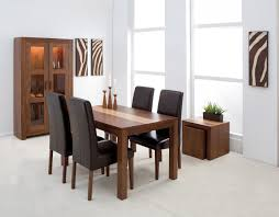 gorgeous dining table and chair set 2 brown leather 14