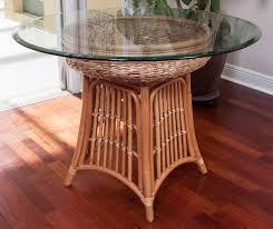havana round table base antique honey finish