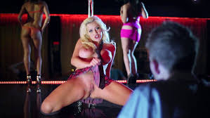 Porn star at strip club
