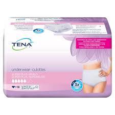 Tena Brief Sizing Chart Tena Women Super Plus Underwear Incontinence Underwear For
