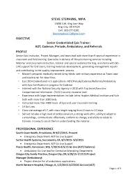 Go Resume Classy Steve Stephens Epic Go Live And Credentialed Trainer Resume