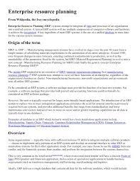 Enterprise Resource Planning Doc