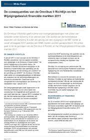 De consequenties van de Omnibus II Richtlijn en het Wijzigingsbesluit  financiële markten PDF Free Download