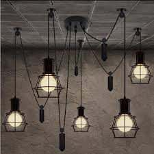 industrial style lighting for home. loft industrial style iron cages pendant light bar counter wire lamp home decoration lightsplre19 lighting for d