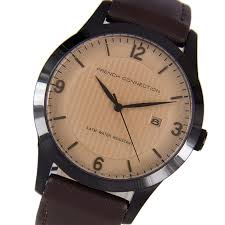 french connection fcuk mens leather strap analog quartz dress french connection fcuk mens leather strap analog quartz dress designer watch fc1210t
