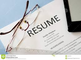 Resume Stock Image Image Of Human Resources Document 31827077