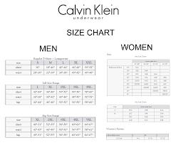 55 Conclusive Calvin Klein Underwear Sizing Chart
