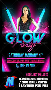 glow flyer flyers parties oyle kalakaari co
