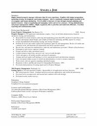 Property Manager Sample Resume Amazing Property Manager Resume Job Description Sample Property Manager