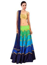 Nishtha Prints Women S Multi Color Digital Print Banglori Lehenga