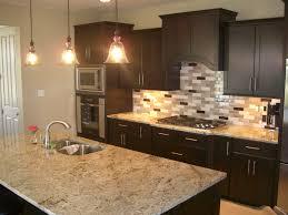 Glass Tile Backsplash Ideas With Dark Cabinets wwwresnoozecom