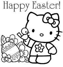 Our printable easter coloring pages are a simple spring activity that you can have ready for kids in just a few minutes. Hello Kitty Happy Easter Coloring Page Netart