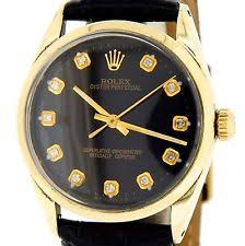 rolex oyster perpetual date mens rolex 14k gold shell oyster perpetual no date watch black diamond 1024
