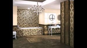 Mosaik Fliesen Badezimmer Kronleuchter Luxus Badewanne Barockstil