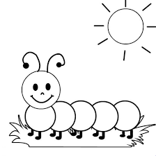 Free Caterpillar To Butterfly Coloring Pages The Very Hungry