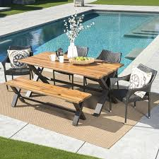 dining set for 6 outdoor 6 piece dining set dining table set with 6 chairs with