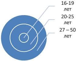 Поведение потребителей на примере ООО М Видео Привет Студент  На рисунке 3 представлена диаграмма на которой выделены сегменты в соответствии с возрастом обслуживаемого населения