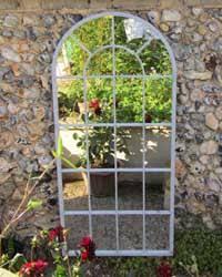 garden mirrors. Large Arch Garden Mirror Tall, With A Round Frame Mirrors