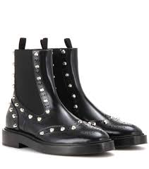 balenciaga embellished leather chelsea boots black women high tech materials usa balenciaga leather shorts