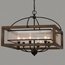 wooden chandelier lighting. Wooden Chandeliers Square Wood Frame And Sheer Chandelier Lighting D