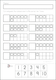 blank ten frames addition worksheets kindergarten domino free printable cut and paste frame worksheet activities summer