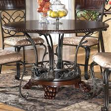 ashley furniture dining set dining room astounding furniture round glass dining table furniture dinette sets home