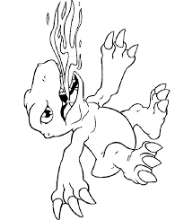 Small Picture Printable Digimon Coloring Pages Coloring Home