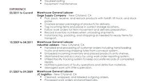 Resume Objective Warehouse Worker Awesome Resume Warehouse Job For ...