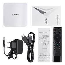 SCISHION AI ONE Android 8.1 TV Box 2.4G 4K Quad Core WiFi USB3.0 Voice