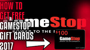 how to get free gamestop gift cards 2017