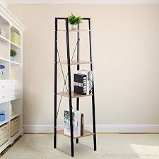 woltu heavy duty corner shelf unit 4 shelf shelving unit wood b075nj76w4