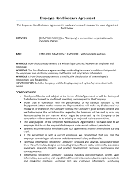Business Confidentiality Agreement Sample Employee Non Disclosure Agreement Newspaper 16