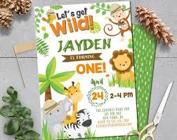 Safari Party Invitations Safari Birthday Etsy