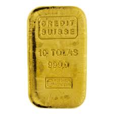 Credit Suisse 10 Tola Cast Gold Bar 10t Cast Gold Bar Uk