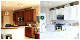white painted kitchen cabinets before and after. Interesting And Painting Oak Cabinets White Kitchen Wondrous  Ideas How To Paint Your Like   Inside White Painted Kitchen Cabinets Before And After E