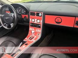 chrysler crossfire custom interior. chrysler crossfire 20042008 dash kits with red carbon finish custom interior e