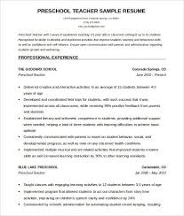 Teacher Resume Template Amazing 28 Awesome Teacher Resume Template Word Resume Template