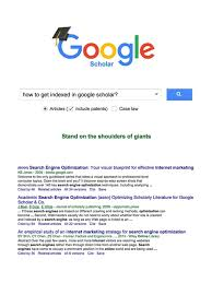 How To Get Indexed In Google Scholar Adhesion Nz